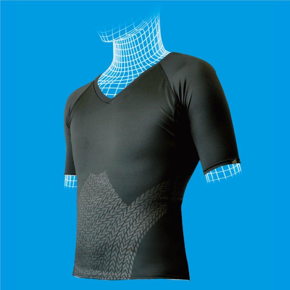 機能性アンダーウェア Darwin セパレート 半袖スリム(上半身のみ)ブラックS B00AHQ057A  S
