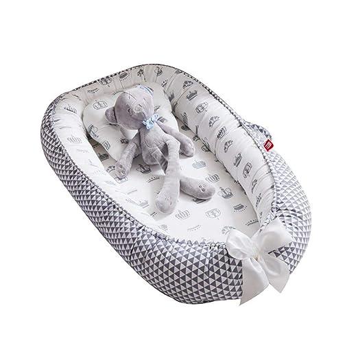 Womdee - Tumbona para bebé, Nido Transpirable para recién Nacido, Funda extraíble con algodón orgánico Supersuave, Idea para recién Nacidos para ...