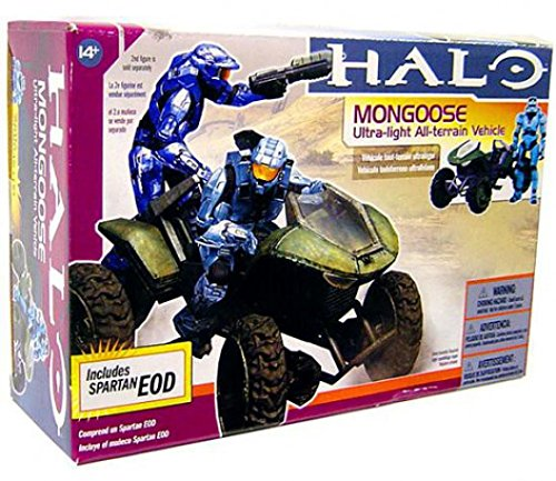 McFarlane Toys Halo Deluxe Box Set - Mongoose Vehicle with Spartan Soldier EOD Cyan