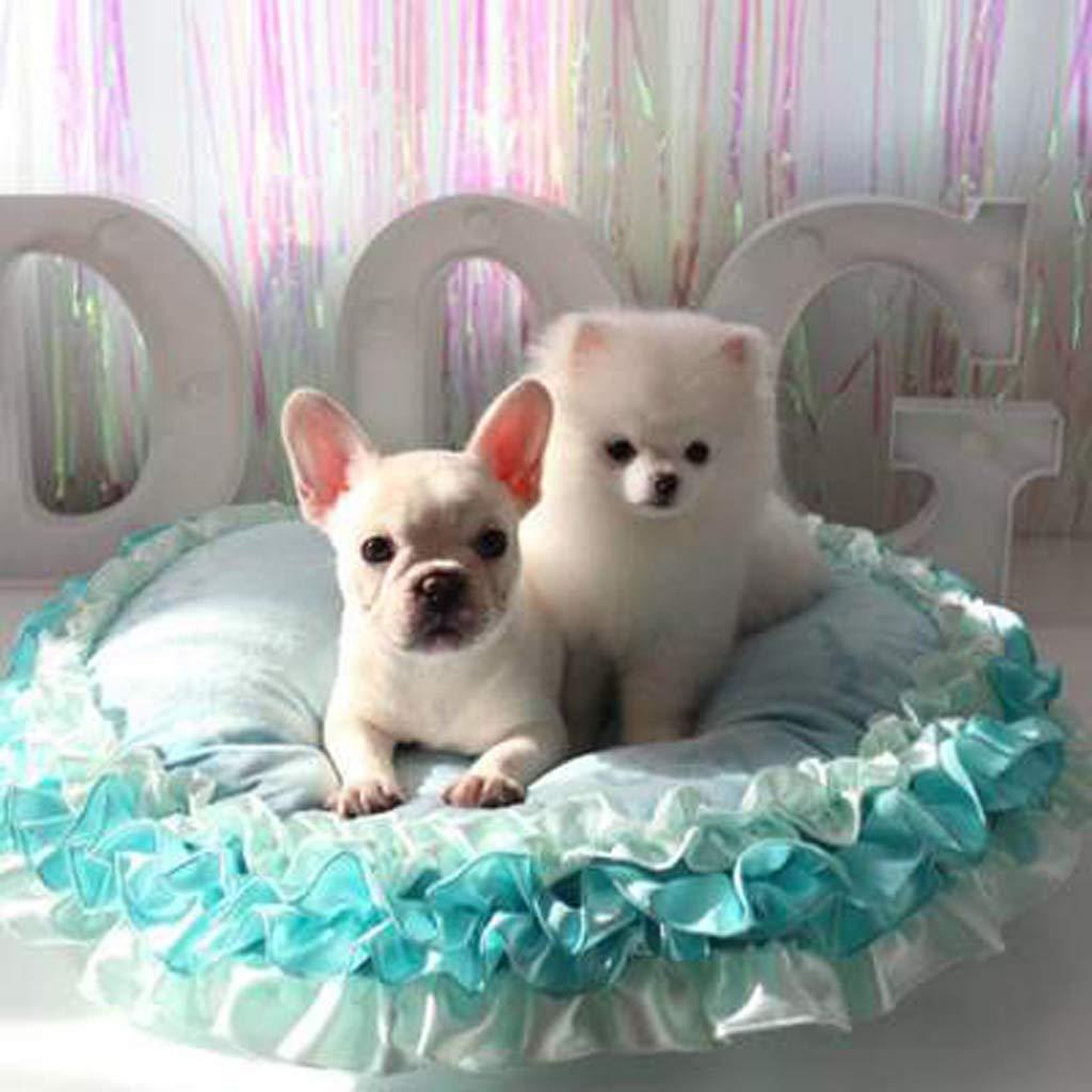 bluee ZQG Four Seasons Universal Pet Nest Removable Pet Mat Pet Supplies Pet Supplies (color   PINK)