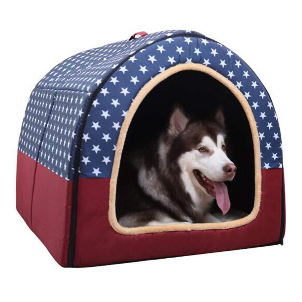 NYDZDM Kennel Large Dog Medium Dog Pet Nest, Cat House Dog House Indoor Washable Dog Bed (Size   L)