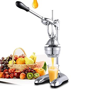 Inoxidable Exprimidor Comercial Manual Fruta Exprimidor para Naranjas Agrios, Limón Exprimidor, Plata,B: Amazon.es: Deportes y aire libre