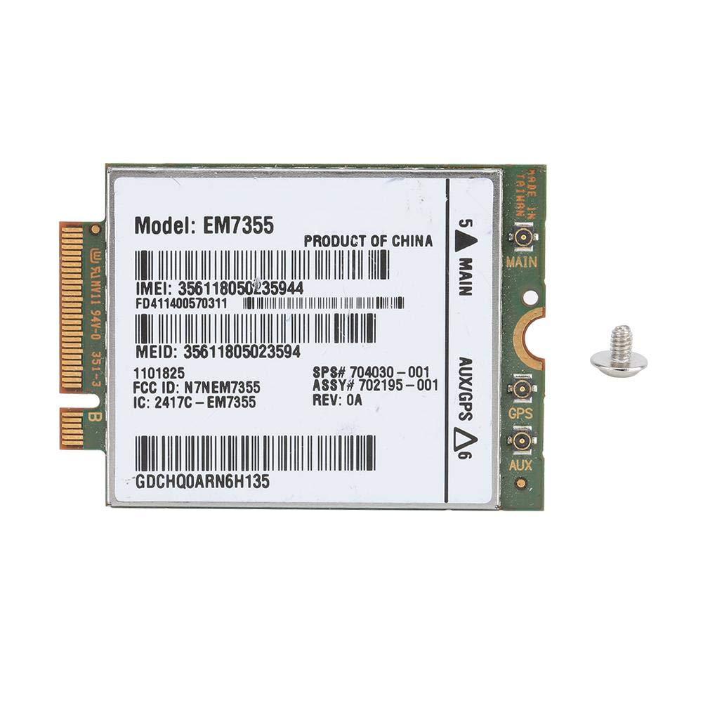 Classe 12 //Bord pour UMTS//HSDPA//HSPA +//LTE//EVDO Rev A//1xRTT//GSM//GPRS EM7355 100Mbps Module 4G LTE pour HP EliteBook 820//840 G1//ZBook 14//15//17704030-00 ASHATA Module de Carte 4G LTE