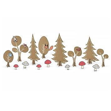 1 Diy Tischdeko Set Waldtiere Eule Fuchs Wald Pilze