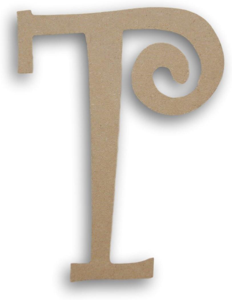 MPI Wood Pressed Wood Initials Wall Decor - 8 Curvy T