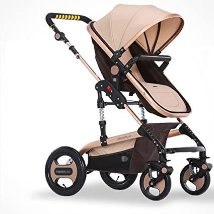 Carro de bebé Niño La Carretilla del bebé Puede Estar sentando el Choque de Cuatro Ruedas ...