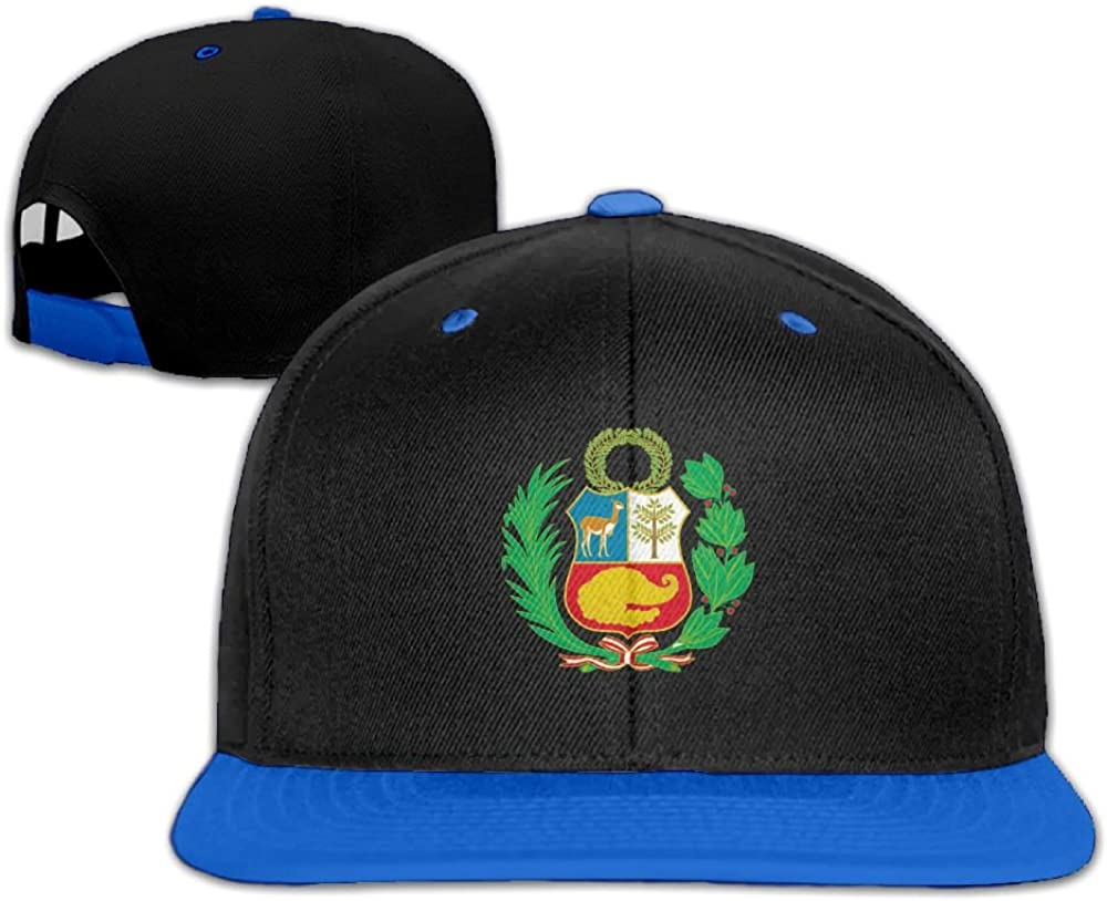 Humaoe Peru Coat of Arms Fashion Peaked Baseball Caps//Hats Hip Hop Cap Hat Adjustable Snapback Hats Caps for Unisex