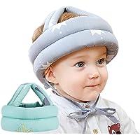 Hermont Baby Casco de seguridad protector para bebe niño niña infantil antigolpes, para aprender a caminar, gatear, correr, jugar. | Ajustable y Liviano | Sombrero Gorro para proteger la cabeza de los Bebes | Anticaidas (Verde)