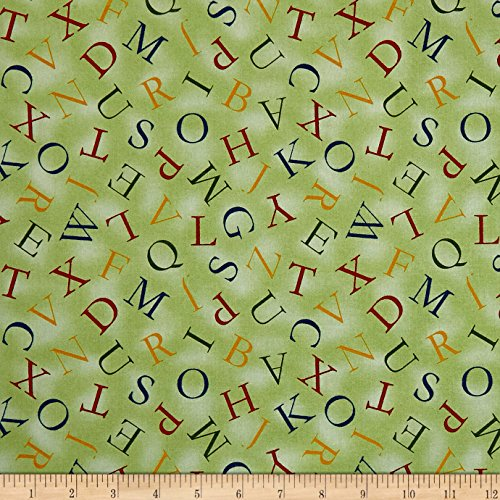 - QT Fabrics Hungry Animal Alpha Alphabet Toss Green