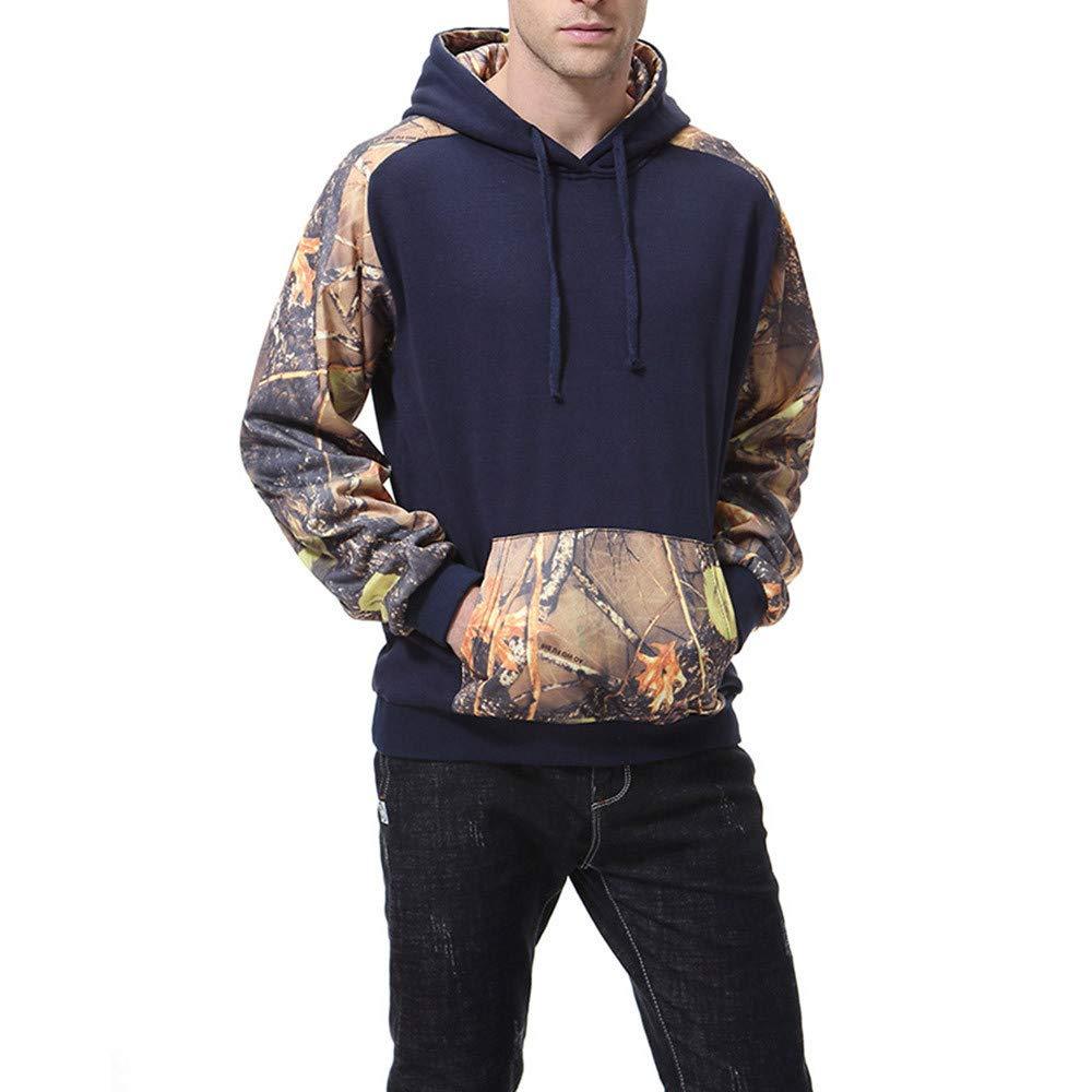 Cool Long Sleeve Tee,Fashion Mens Autumn Winter Print Long Sleeve Hooded Sweatershirt Top Blouse for Men Teen Boys