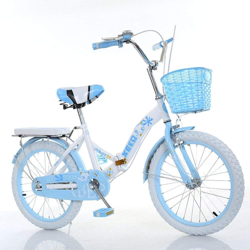 DBSCD Bicicletas Plegables para niños, Bicicletas Plegables para Estudiantes Bicicletas Plegables portátiles para Escolares primarios Ligeros para niños de 6 a 8 años