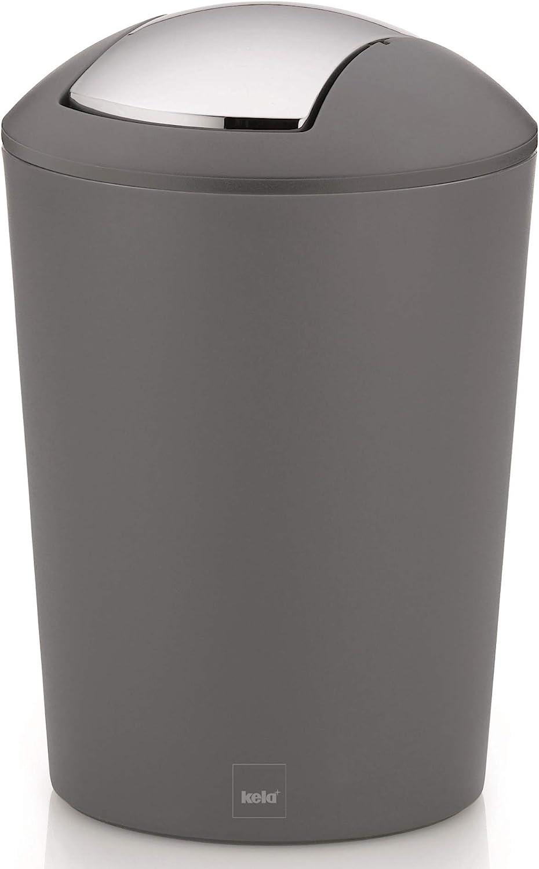 kela 22301 Cubo de Basura para ba/ño de pl/ástico Color Blanco 5 l