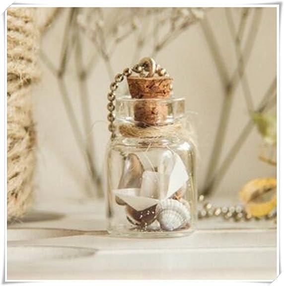 Tiny collar botellas. Cute collar. Botella de cristal colgante ...