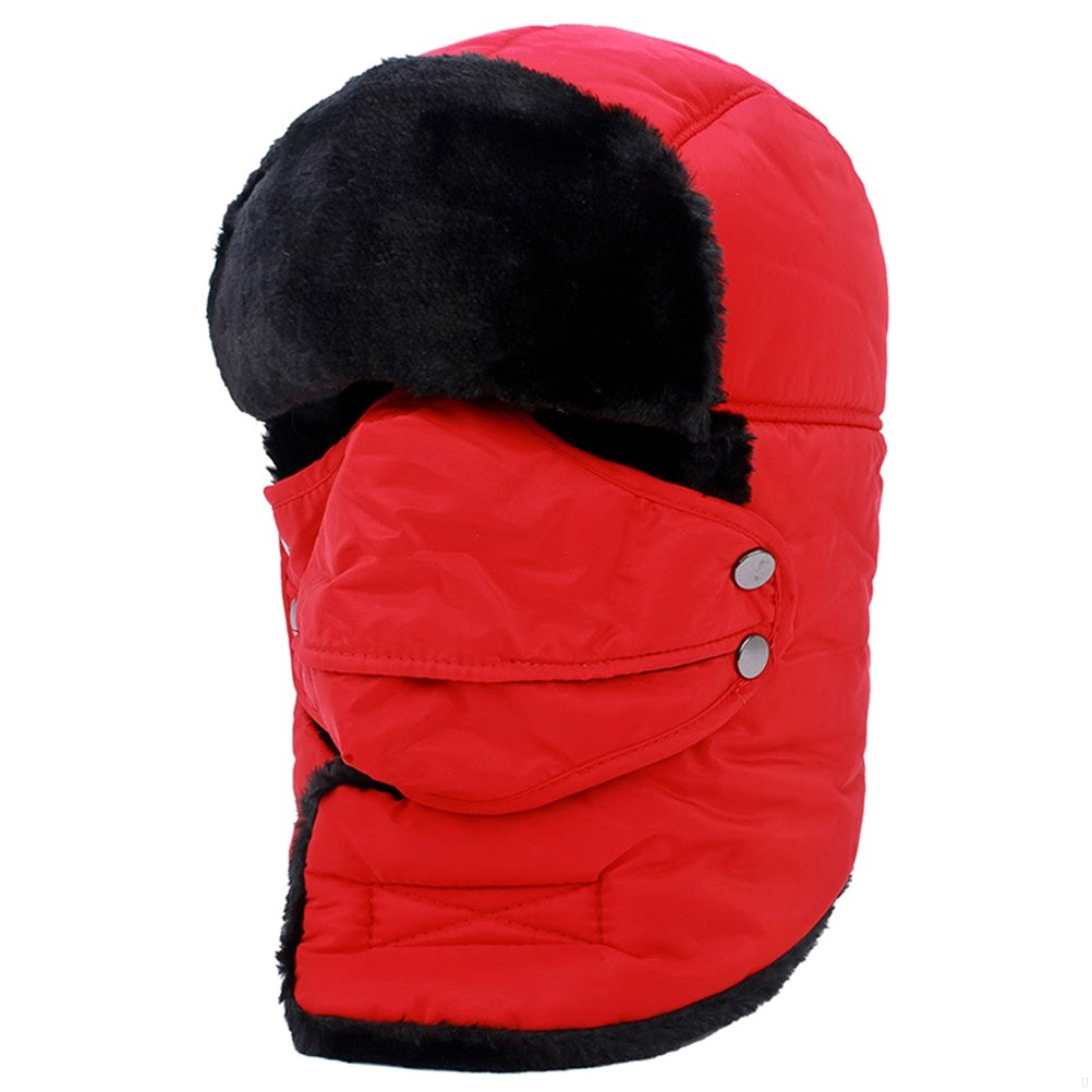 6a5ac9a641e88 GADIEMENSS Warm Mask Hat with Neck Protection and Mouth-open Mask Windproof  Waterproof Unisex Hunting