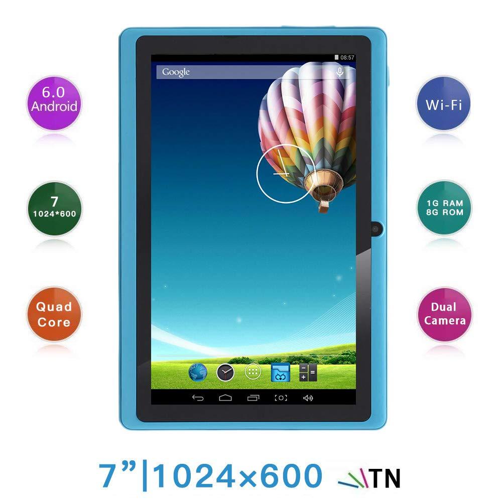 Haehne 7 Pouces Tablette Tactile, Google Android 6.0 Quad Core Tablet PC, É cran 1024x600 HD, 1Go RAM 8Go ROM, Double Camé ras, WiFi, Bluetooth, Bleu Écran 1024x600 HD Double Caméras Shenzhen Haina Tianyuan Ecommerce Co. Ltd. HN-PC-NQ8