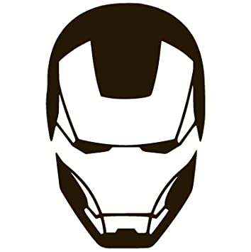 Iron man face vinyl sticker decal black 1 3