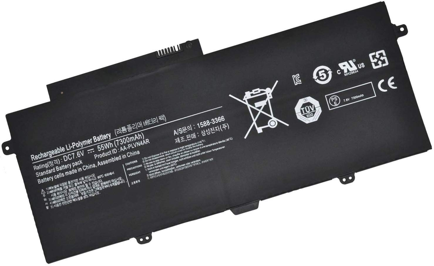 Batterymarket New AA-PLVN4AR Replacement Laptop Battery Compatible with SAMSUNG 1588-3366 BA43-00364A (7.6V 55Wh)