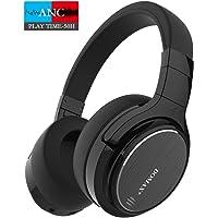 Bluetooth Kopfhörer, Noise Cancelling Kopfhörer, 50 Stunden Spielzeit DOMAX M1, Noise Cancelling Kopfhoerer, HiFi Stereo Over Ear Kopfhörer - Schwarz