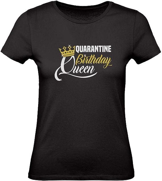 Green Turtle Camiseta para Mujer - Camiseta Coronavirus - Quarantine Birthday Queen