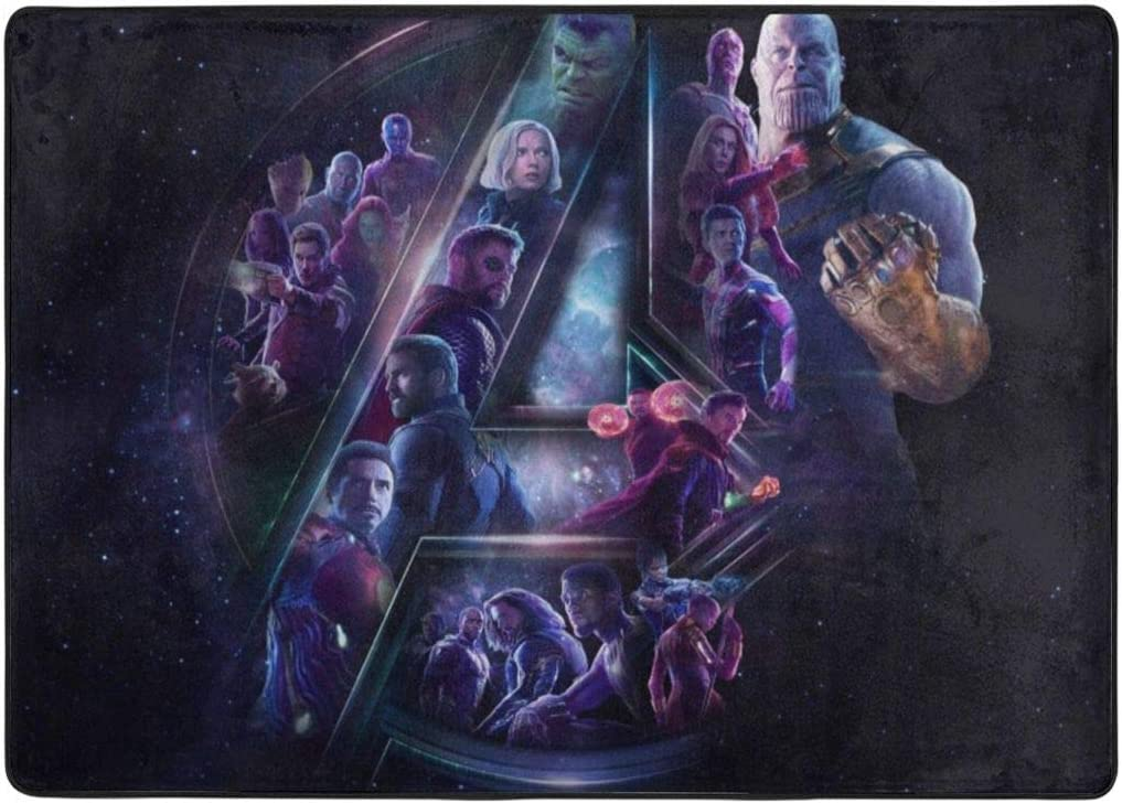 Marvel Avengers Galaxy Area Rug for Living Room College Apartment Decor Rug Pad Rugs for Bedroom Home Decor Floor Mats 6.7×4.8Feet