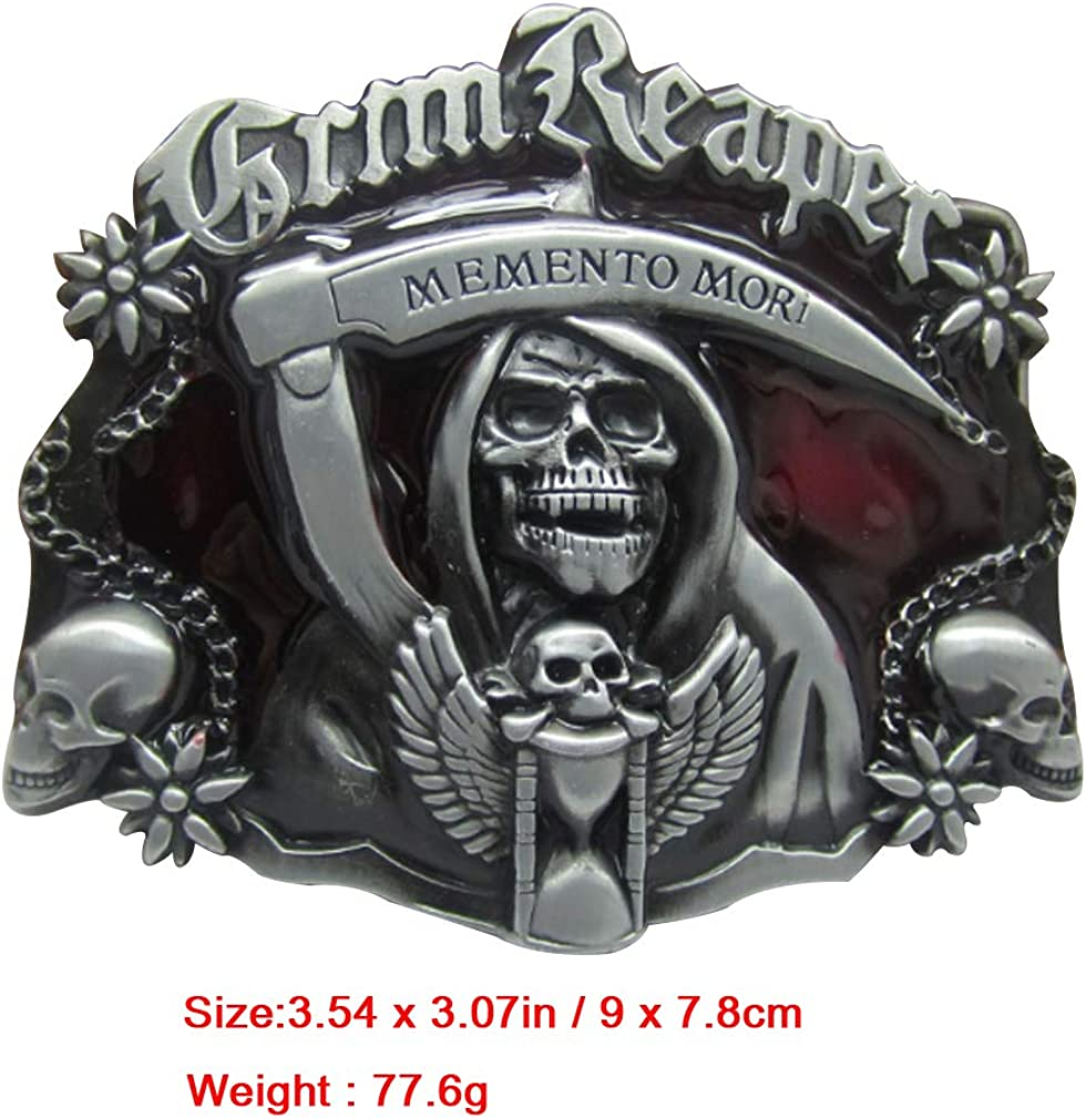 LKMY Mens Belt Buckle Western Skull and Katana Belt Buckle Celtic Ratchet Belt Buckle for Mens Womens Fathers Day