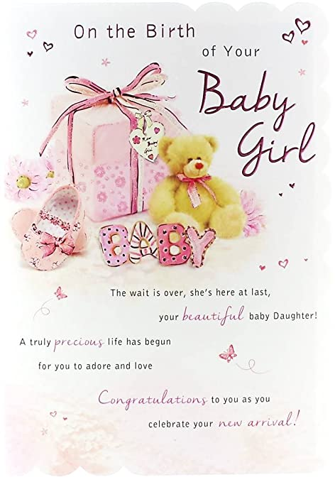 Goldmark birth of baby girl greetings card pink gift bear goldmark birth of baby girl greetings card pink gift bear bootie 9quot m4hsunfo