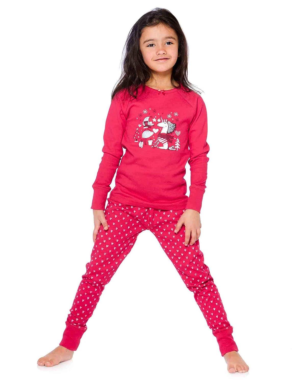 Deux par Deux Girls Pyjamas Set with Heart Print Pants Sizes 2-12