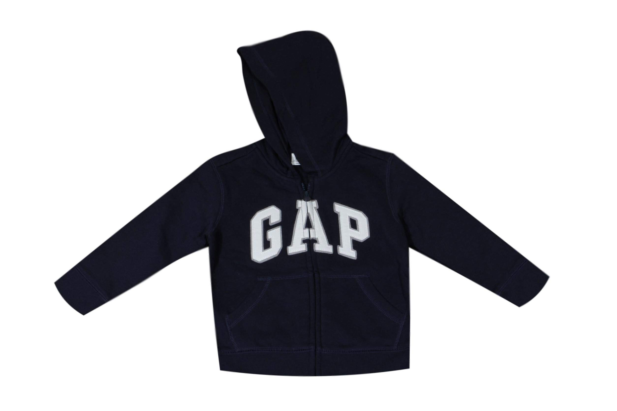 GAP Little Boys Zip Hoodie (5, Navy)
