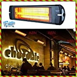 Very Powerful 2500 W Commercial Restaurant Indoor Outdoor Electric Panel Wall Mounted Infrared Patio Space Heater withThermostat Wall Mount Heating for Office Home Bathroom Large Room use 220-240 V