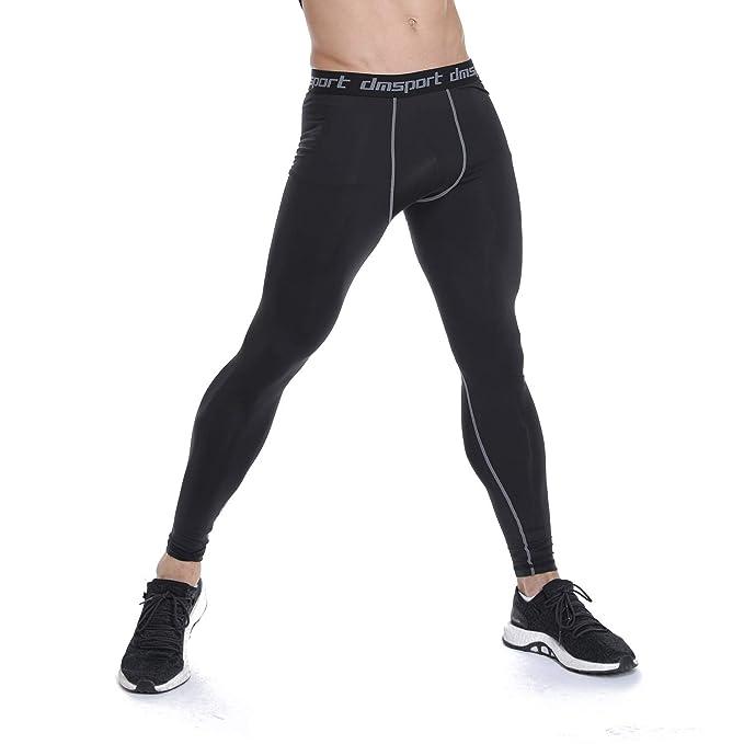 FITTOO Mallas de Fitness y Ejercicio Elásticos Transpirables Hombre Pantalón de Correr, Mallas compresivas