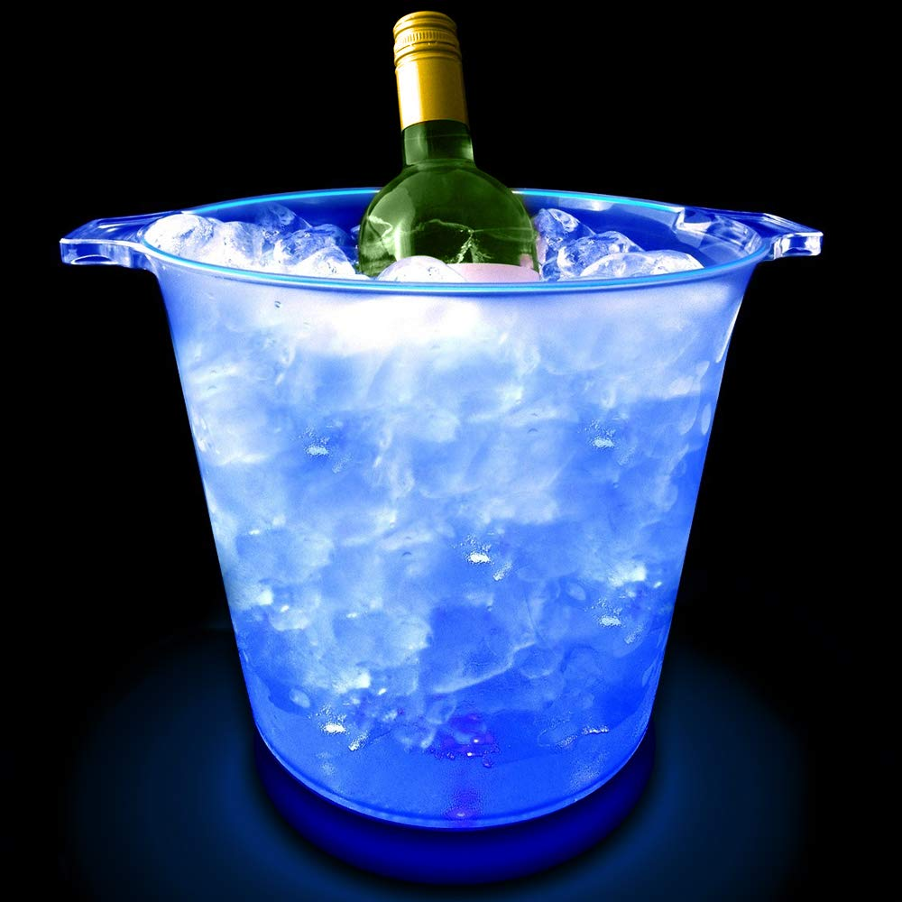 Battery Operated Vinsani LED Colour Changing Ice Bucket Changes 7 Colours