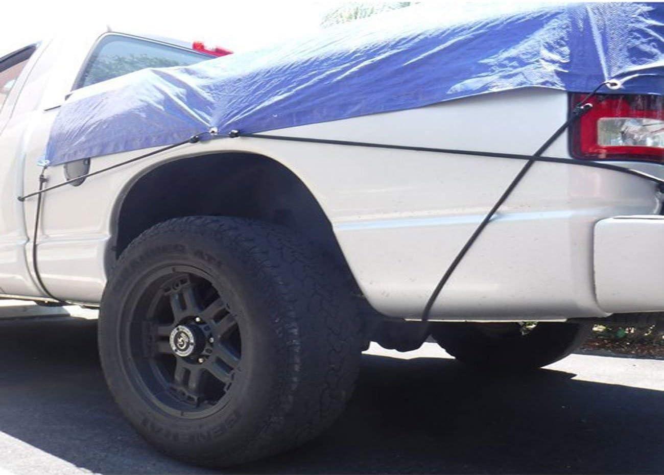 camper Corde elastiche colore nero resistenti campeggio 120 cm roulotte con ganci per auto 2 pezzi