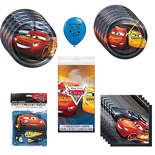 Disney Cars 3 Lightning McQueen Party Supplies Bundle for $<!--$26.99-->