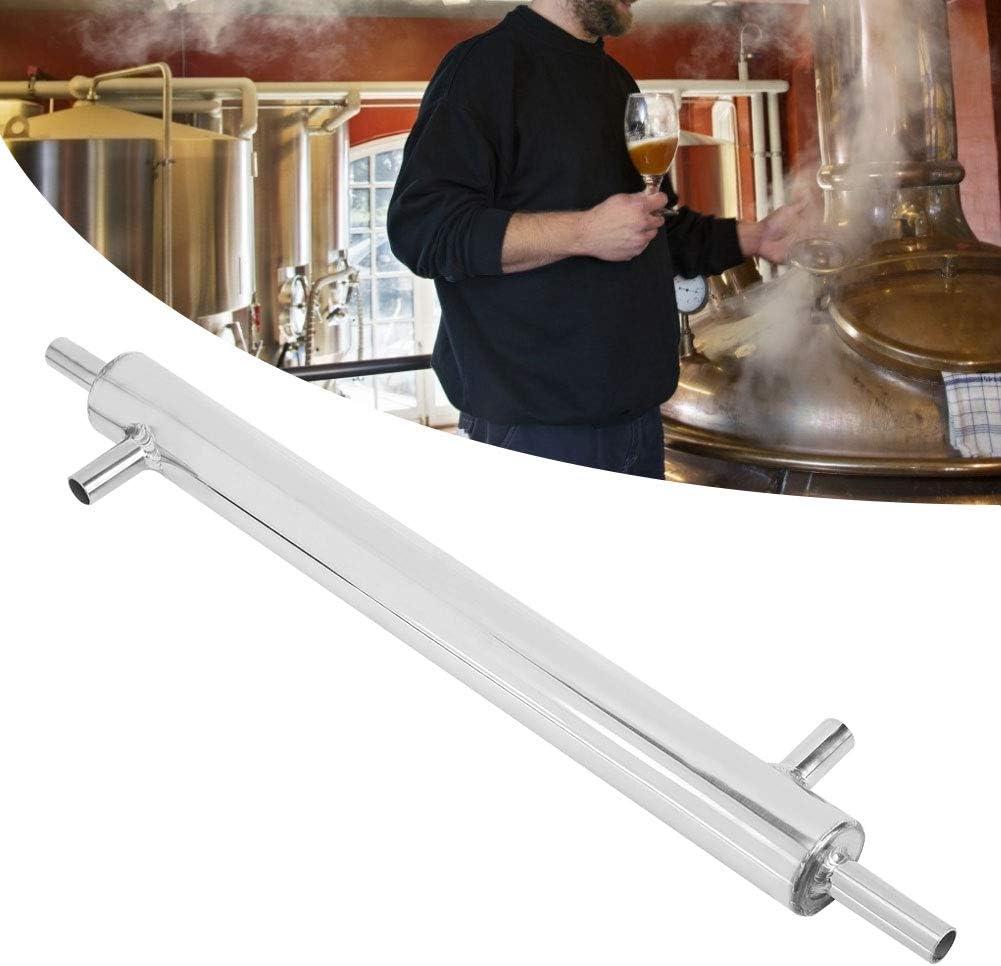 Cooler Beer Making Condenser,Jadpes Cooler Distiller Condenser Stainless Steel External Cooling Pipe Tube for Home Brewery