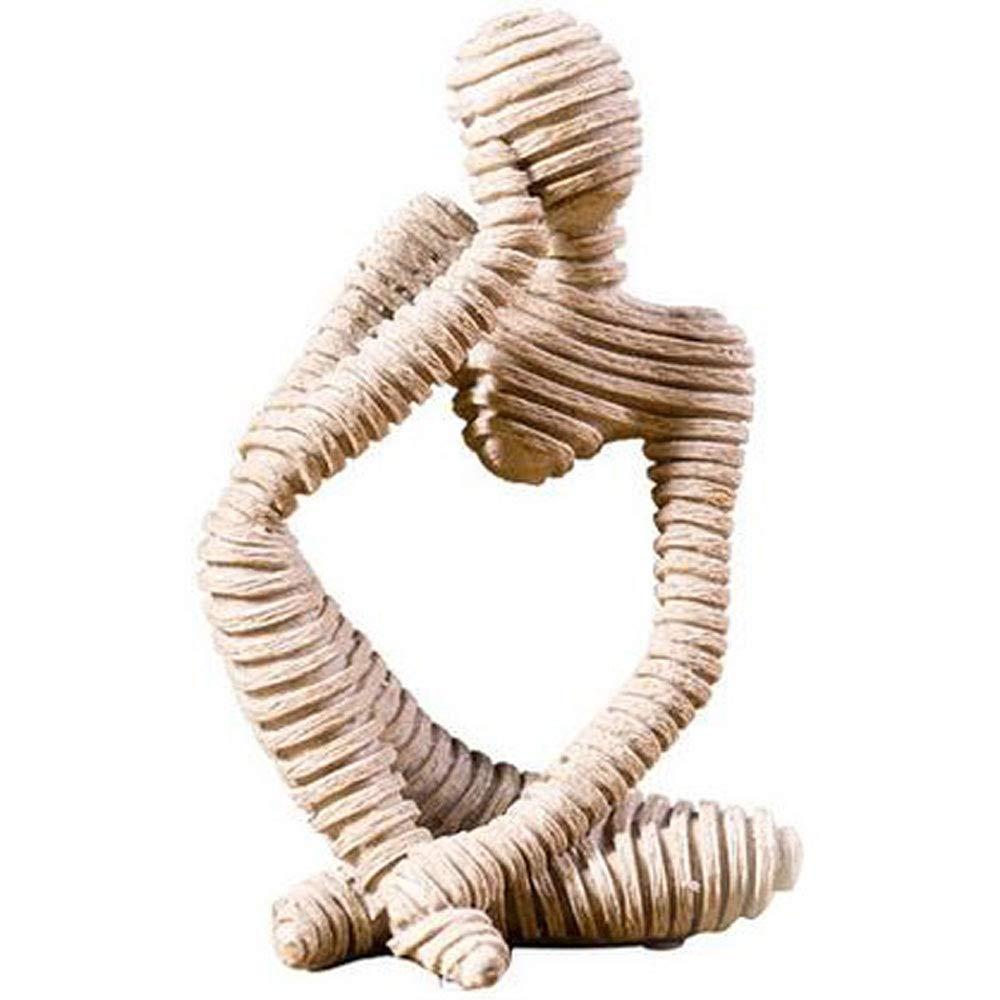 Symboat Statues Escultura Ornamentos Decorativos de Figure Abstracta de gres para el Escritorio de sal/ón