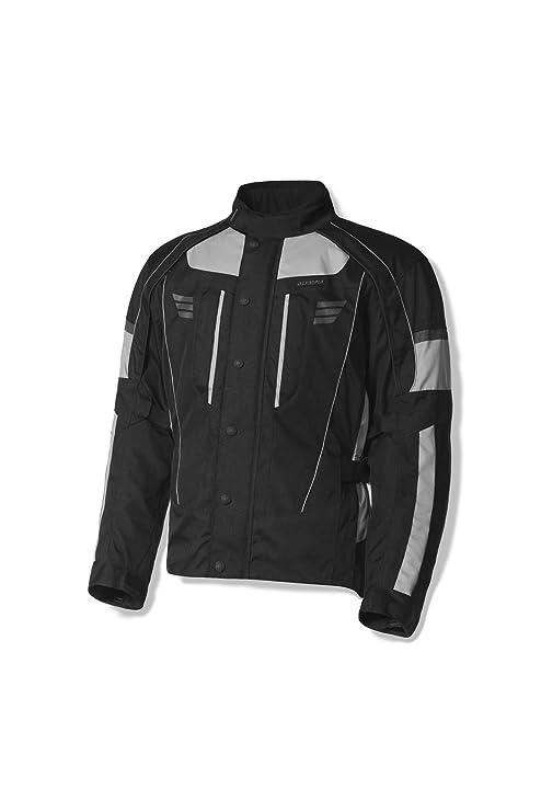 Olympia Durham para hombre impermeable chaqueta de Moto Racing plata
