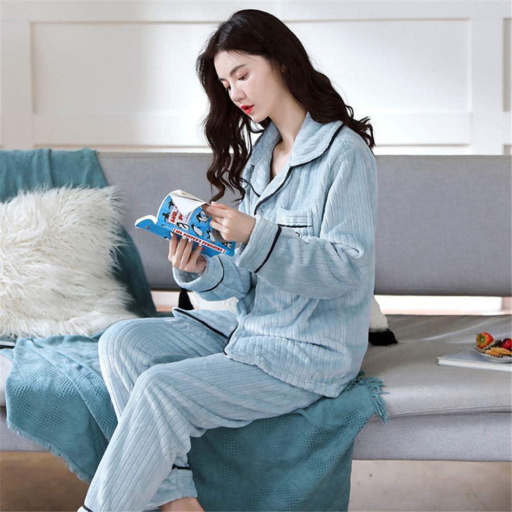 DUJUN Pijama Suave para Mujer, Albornoces Gruesos de Lana de ...