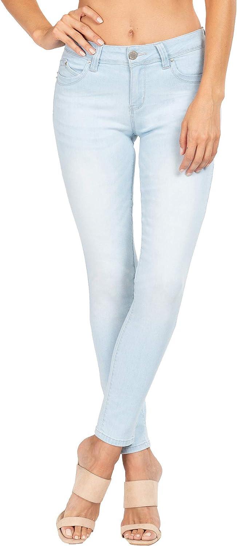 YMI Wannabettabutt Mid-Rise Denim Skinny Jeans Black