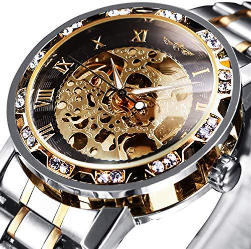 Watches, Men's Watches Mechanical Skeleton Classic Luxury Fashion Stainless Steel Self-Winding Waterproof Steampunk Dress Watch Gold (Best Mens Dress Watches Under 1000)