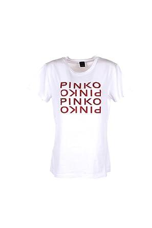 Pinko T-Shirt Donna M Bianco Fremont Primavera Estate 2018  Amazon.co.uk   Clothing 6f8e281e180