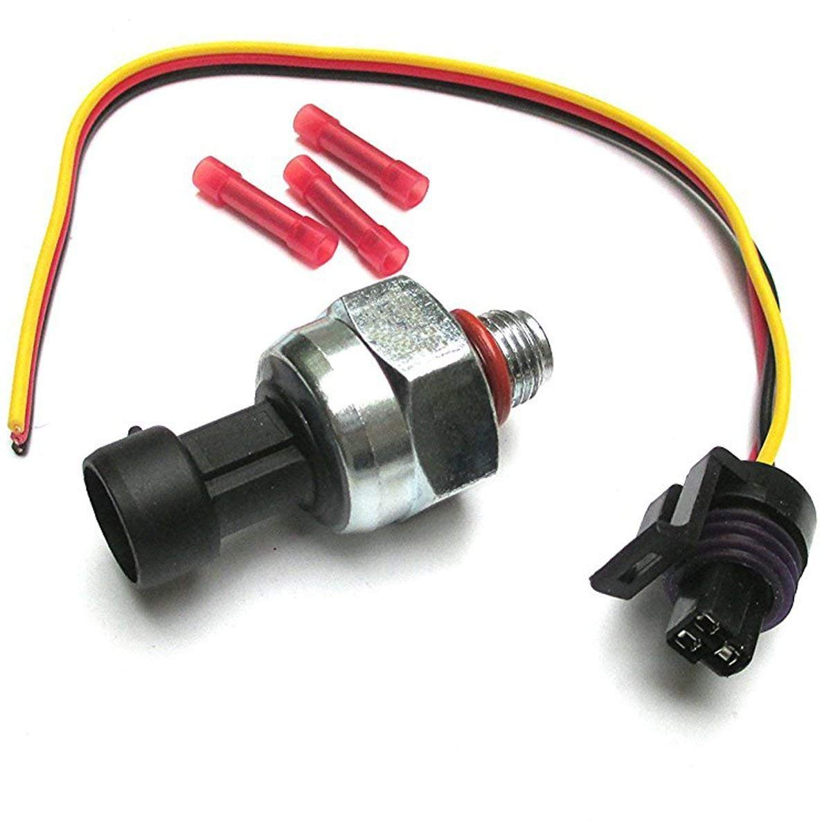 Aquiver Auto Parts New Fuel Injection Pressure Sensor ICP with Pigtail for Ford 7.3L Powerstroke ICP102 F4TZ-9F838-A F6TZ-9F838-A 1807329C92 5S2062