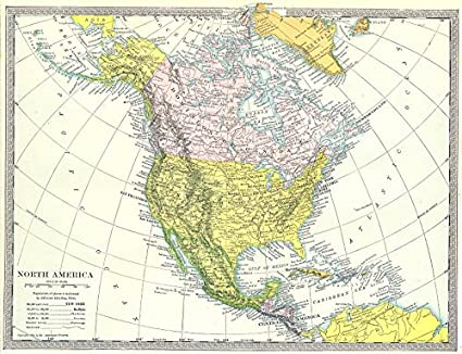 Map Of North America With States.Amazon Com North America Political United States Dominion Of