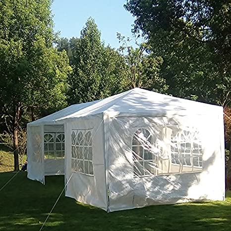 mcombo 10 x30 blanco Canopy Parte al aire libre Gazebo de boda tienda de campaña 7 extraíble paredes 6053-w1030 W-7pc: Amazon.es: Jardín