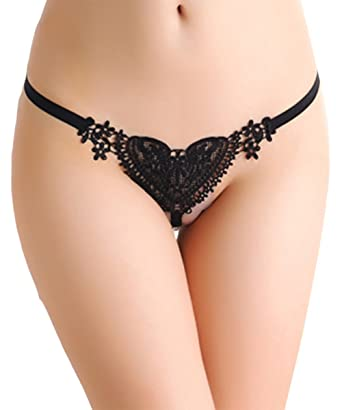 06c60dd6b6f0 Women Ladies Underwear Panties Lingerie Knickers Brief Sexy Heart Pearl G  String Thongs: Amazon.co.uk: Clothing