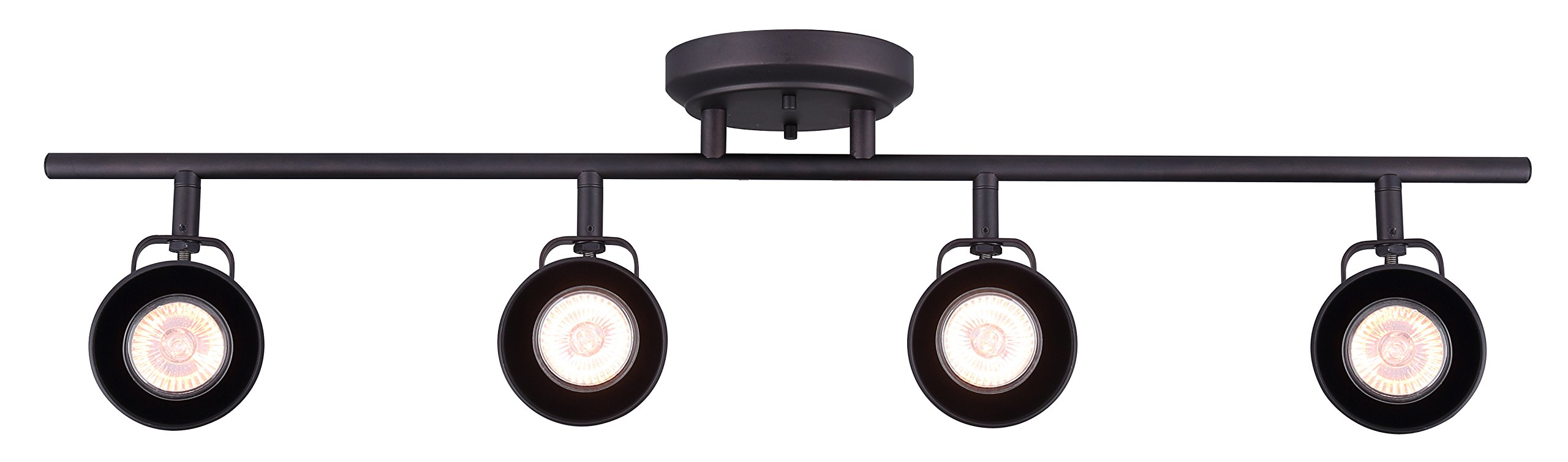 CANARM IT622A04ORB10 Ltd Polo 4 Light Track Rail Adjustable Heads, Oil Rubbed Bronze