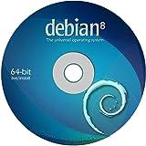 "Debian Linux 8.0 ""Jessie"" on DVD - Full (64-bit) Live / Install version."