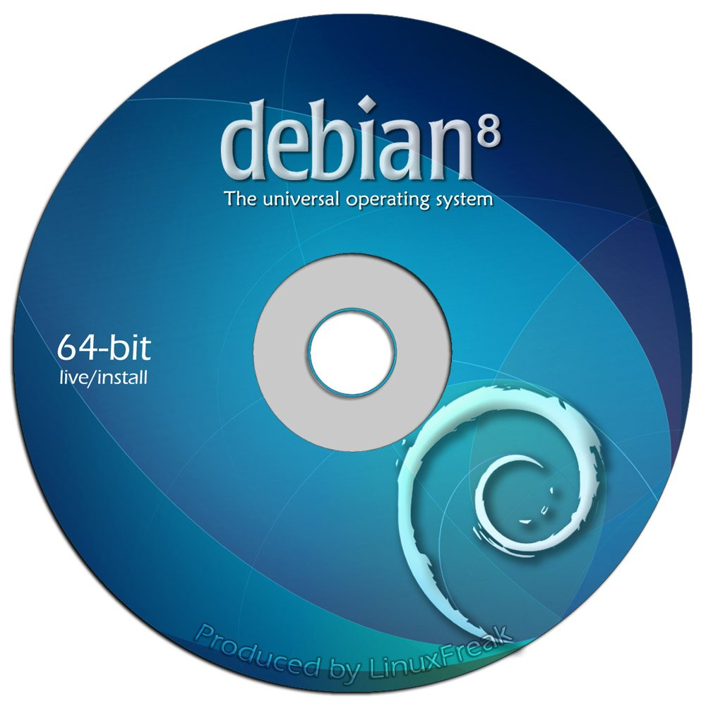 Debian Linux 8.0 ''Jessie'' on DVD - Full (64-bit) Live / Install version by LinuxFreak
