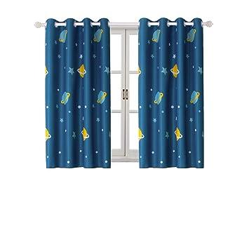 BGment Vorhänge Mustern Ösen Kinder Blickdicht Gardinen Für  Baby,Kinderzimmer,Wohnzimmer Wärmeschutz Geräuschreduzierung,