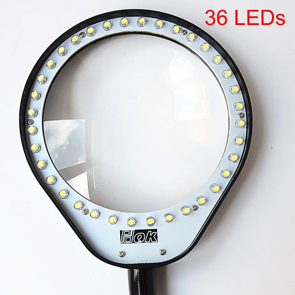Amazon.com: Kwekjren29921 Bookend 36LED 10X Magnifying Glass ...
