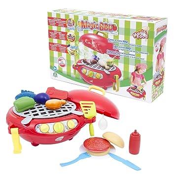 Magic BBQ - Barbacoa Mágica Playset de Cocina con Efecto de Humo, Luz y Sonido (Giochi Preziosi MA300000): Amazon.es: Juguetes y juegos